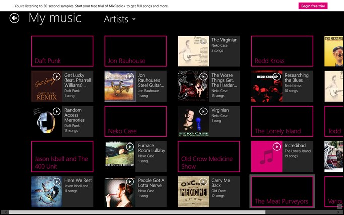 MixRadio screen shot 2