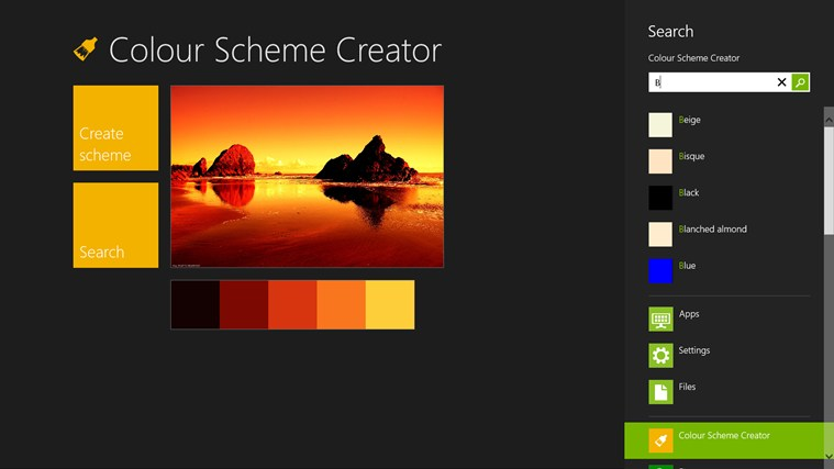Color Scheme Creator screen shot 2