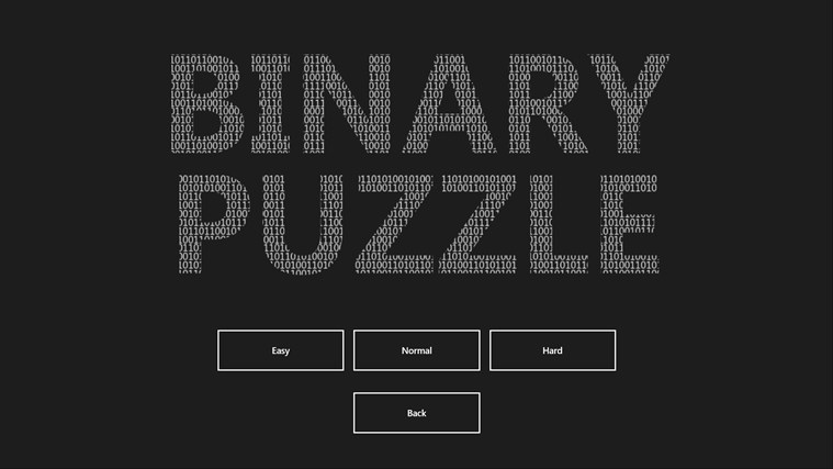 Binary Puzzle screen shot 2