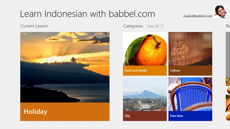 Learn Indonesian with babbel.com screen shot 0