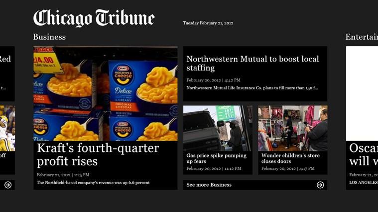 Chicago Tribune screen shot 2
