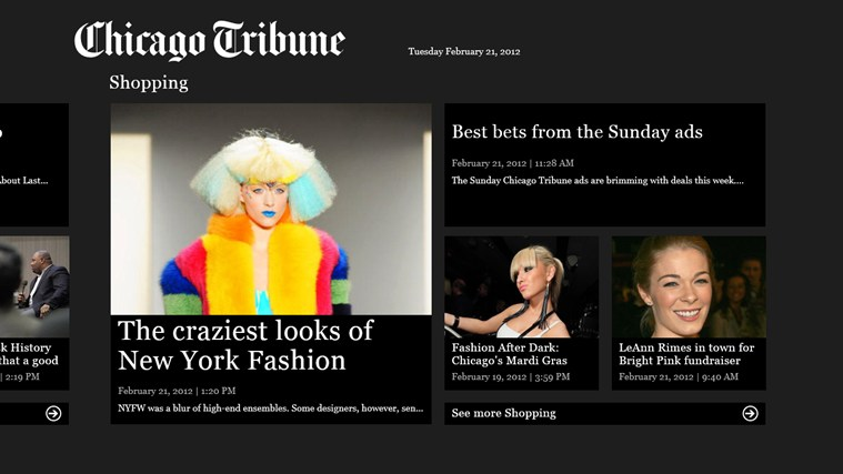 Chicago Tribune screen shot 4