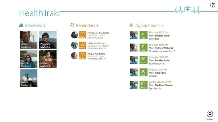 HealthTrakr full screenshot