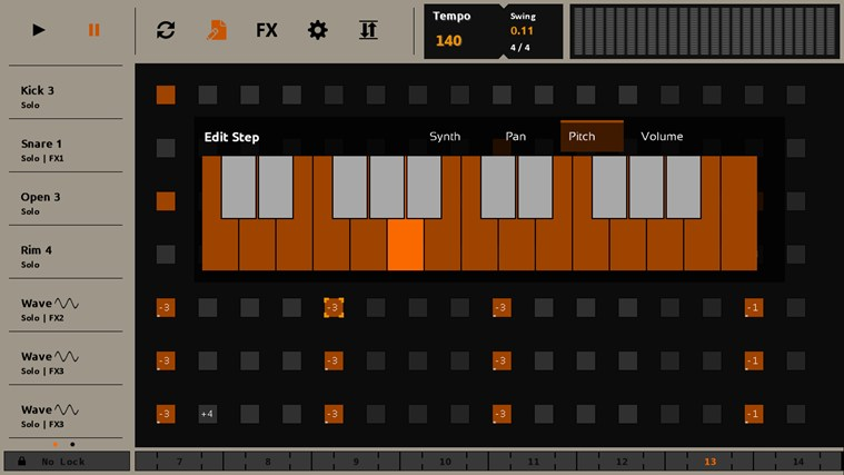 Sequencer screen shot 2