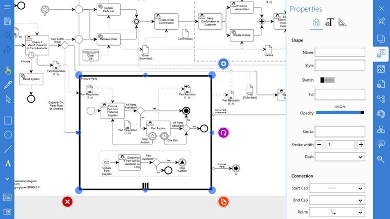 Grapholite - Diagrams, Flow Charts and Floor Plans Designer screen shot 2