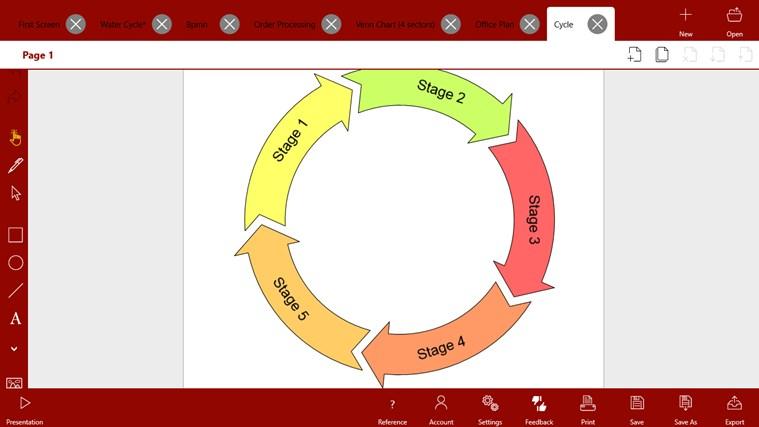 Grapholite - Diagrams, Flow Charts and Floor Plans Designer screen shot 6
