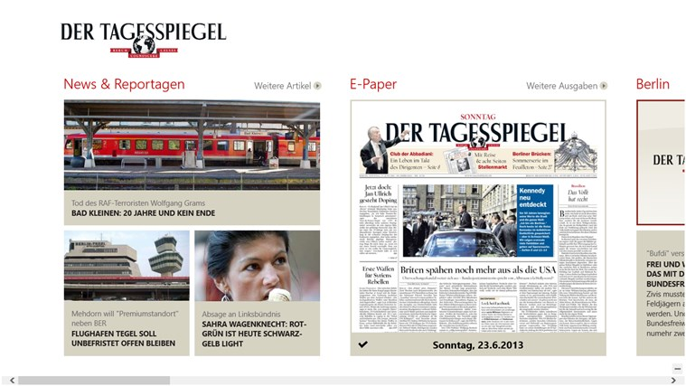 Der Tagesspiegel Screenshot 0
