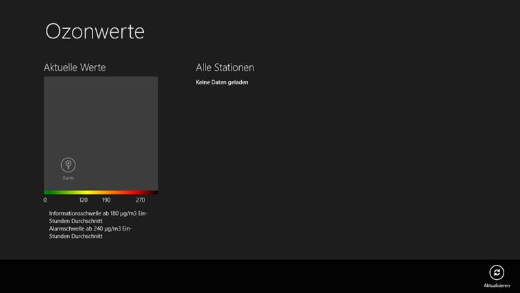 Ozonwerte Österreich Screenshot 0