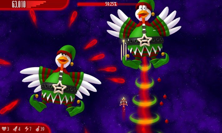 Chicken Invaders 4 Xmas screen shot 0