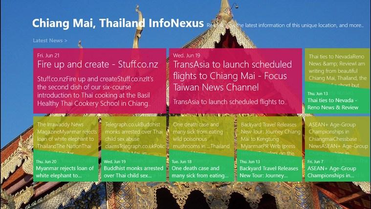 Chiang Mai, Thailand InfoNexus screen shot 0