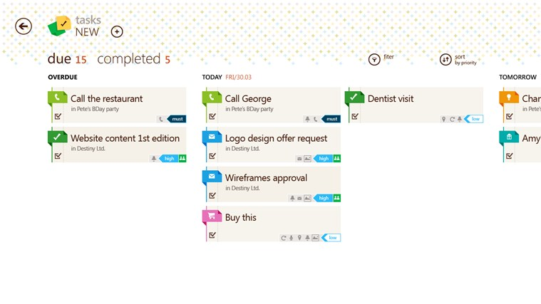 Tasks by Telerik screen shot 2