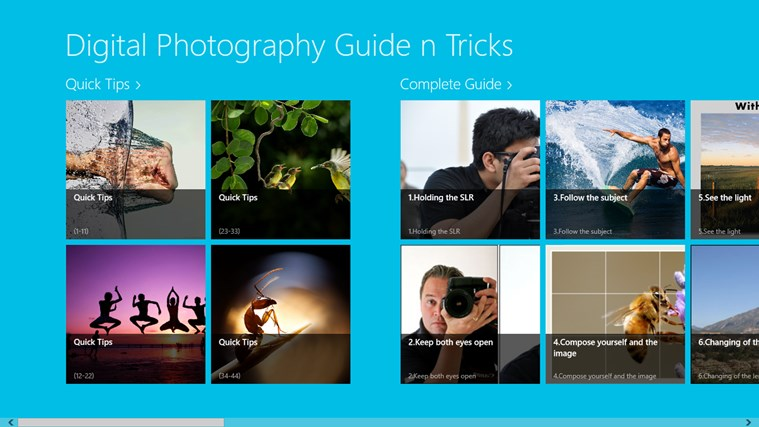 Digital Photography Guide n Tricks screen shot 0