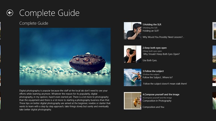Digital Photography Guide n Tricks screen shot 4