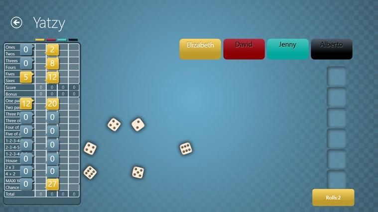 Yatzy Ultimate Free screen shot 2