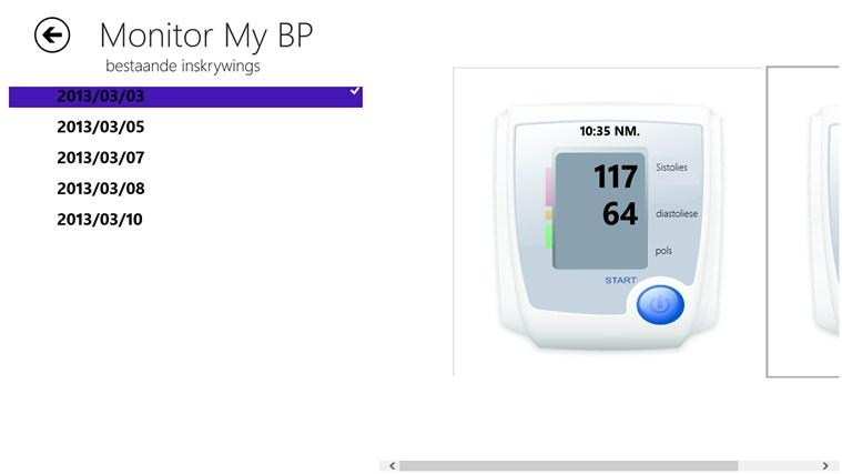 Monitor My BP snímek obrazovky 2