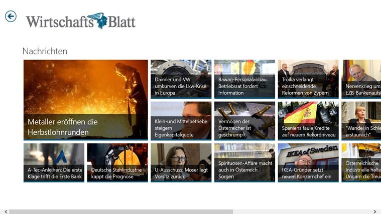 Wirtschaftsblatt Screenshot 4