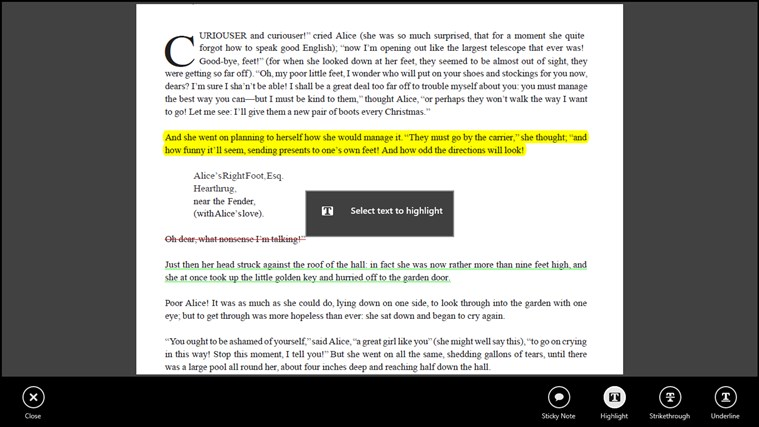 Adobe Reader Touch screen shot 2