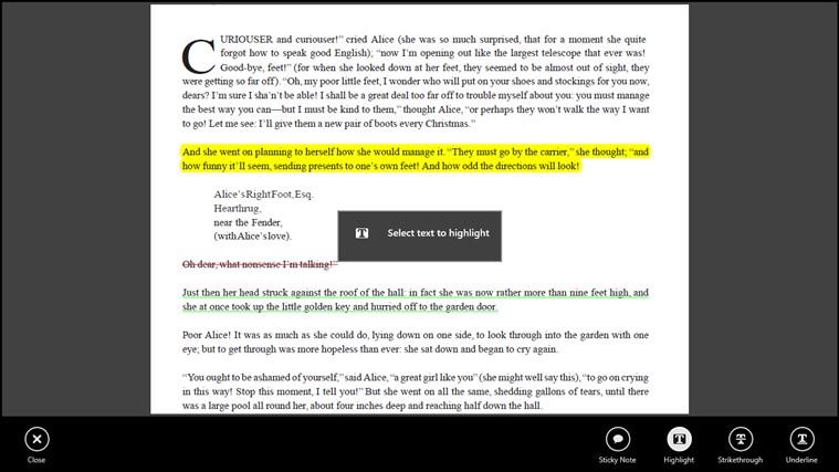 Adobe Reader Touch screen shot 2