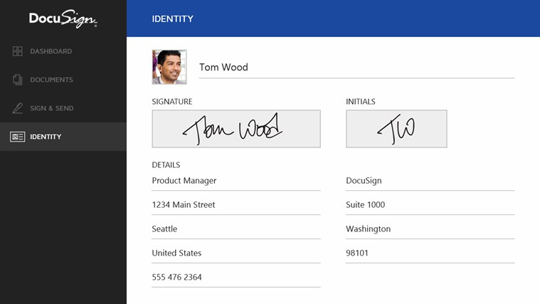 DocuSign screen shot 4