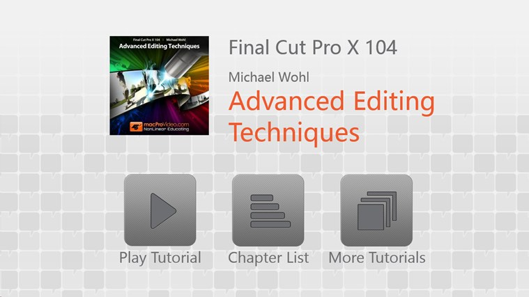 Final Cut Pro X 104 - Advanced Editing Techniques captura de pantalla 0