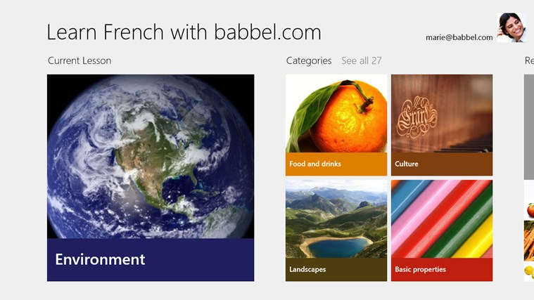 Learn French with babbel.com screen shot 0