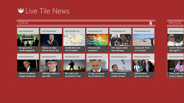 Live Tile News screen shot 0