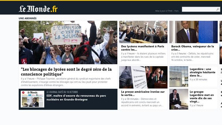 Le Monde.fr capture d'écran 4