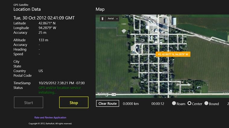 GPS Satellite screen shot 2