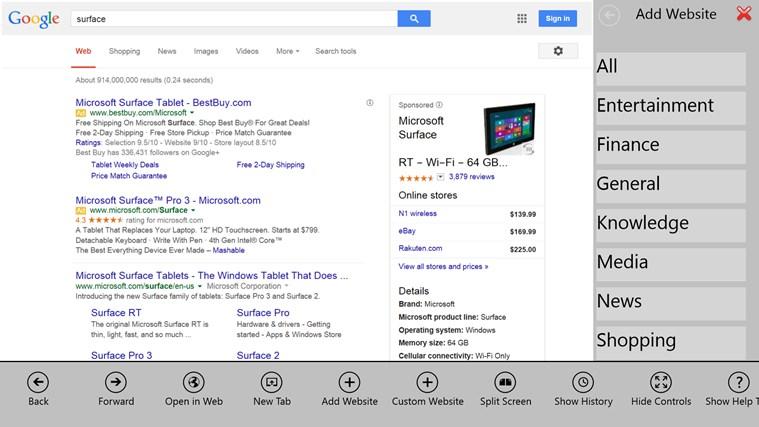 Pan-Search screen shot 4