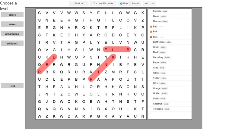 Word Search Game screen shot 0