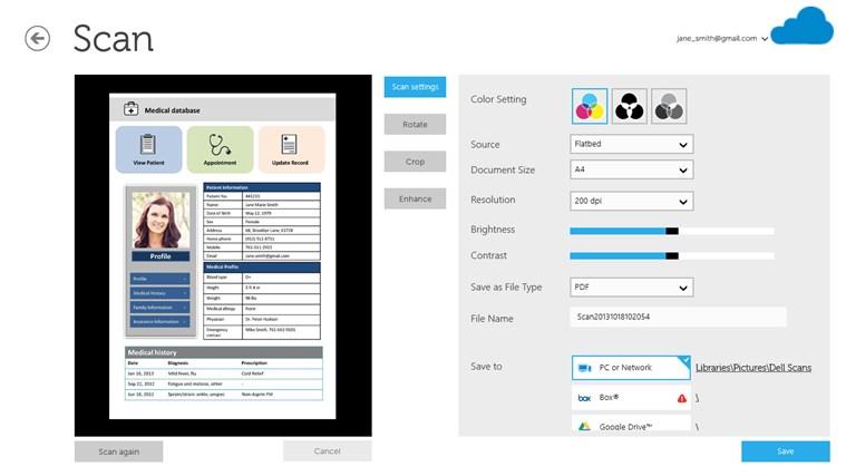 Dell Document Hub screen shot 2