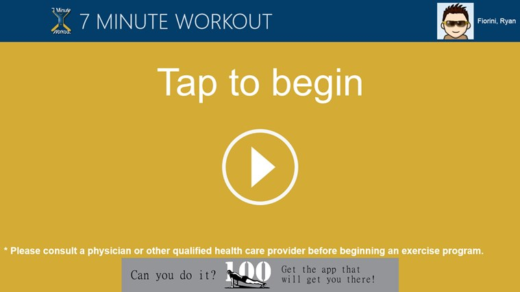 7 Minute Workout screen shot 0