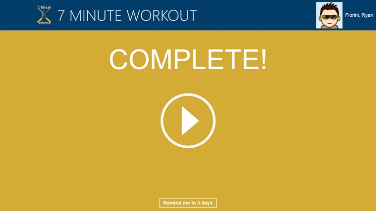 7 Minute Workout screen shot 4