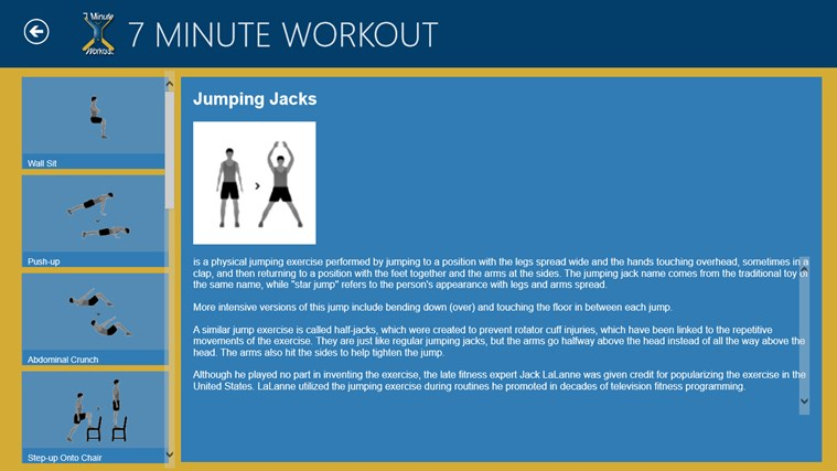 7 Minute Workout screen shot 6