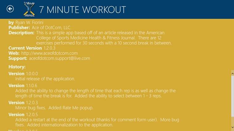 7 Minute Workout screen shot 8
