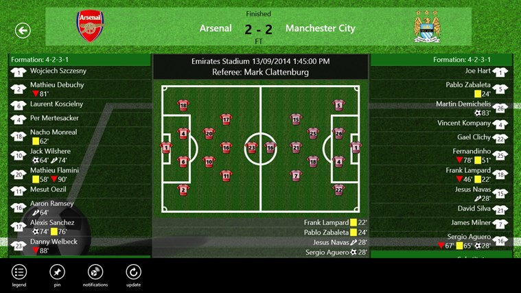 Tile LiveScore screen shot 2