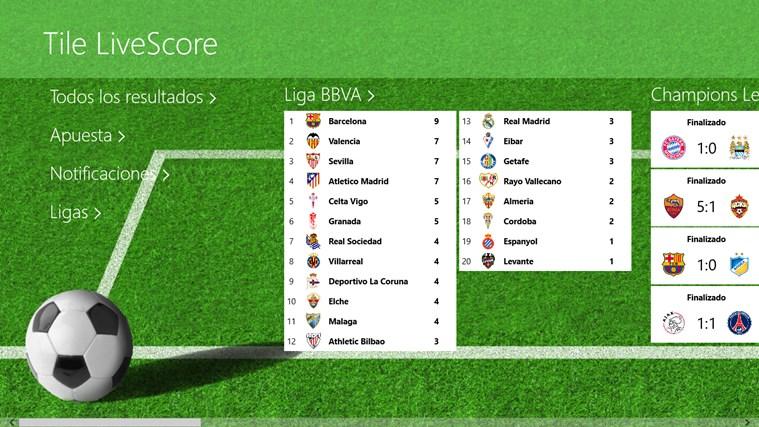 Tile LiveScore capture d'écran 0