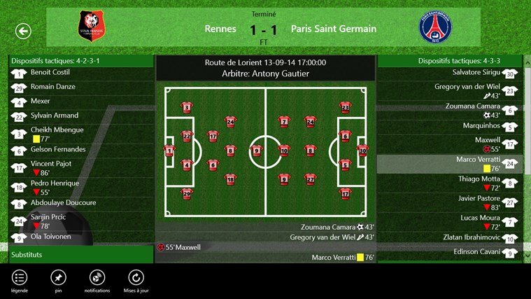 Tile LiveScore capture d'écran 2