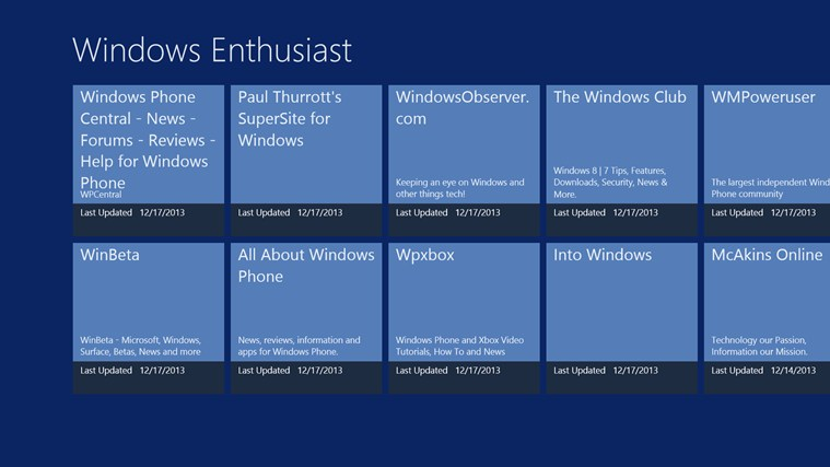 Windows Enthusiast screen shot 0