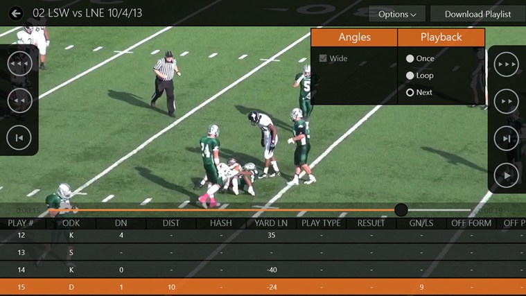 Hudl screen shot 2