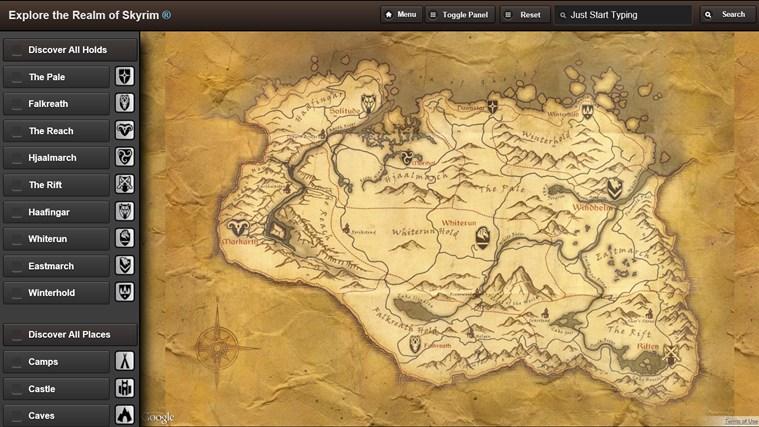 Skyrim Map HD screen shot 0