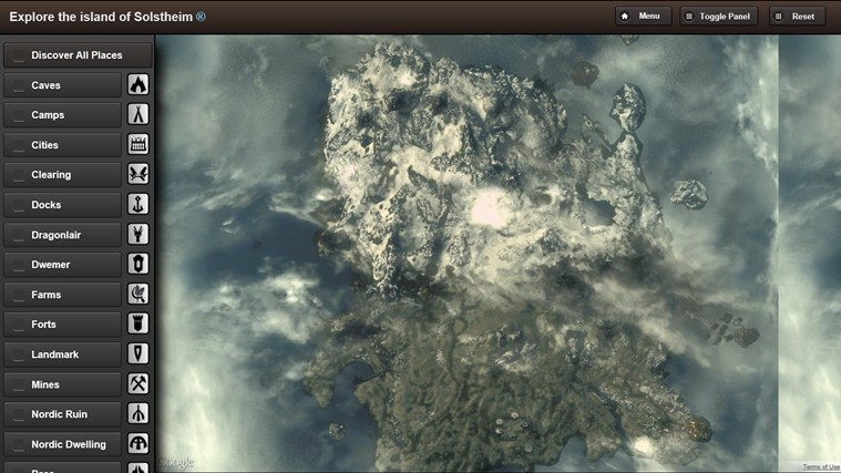 Skyrim Map HD screen shot 4