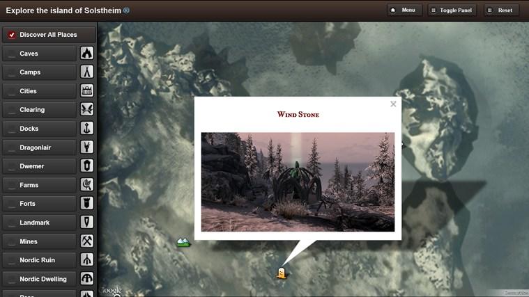 Skyrim Map HD screen shot 6