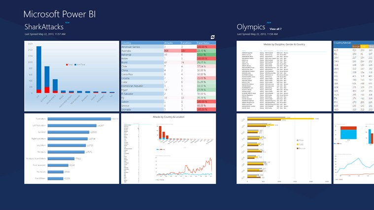 Microsoft Power BI screen shot 0