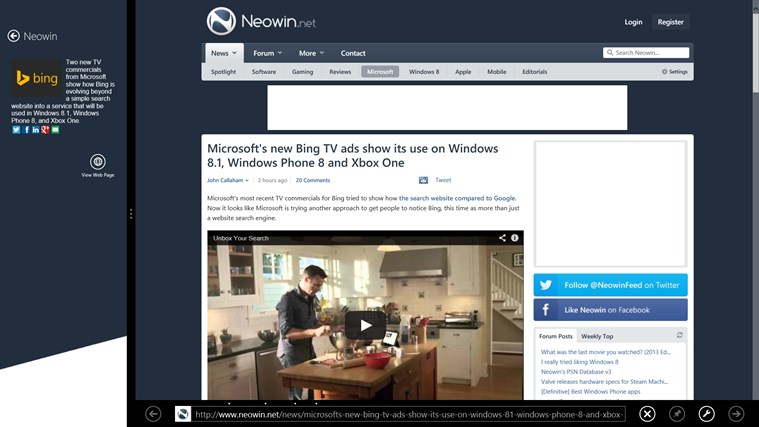 Neowin for Windows screen shot 4