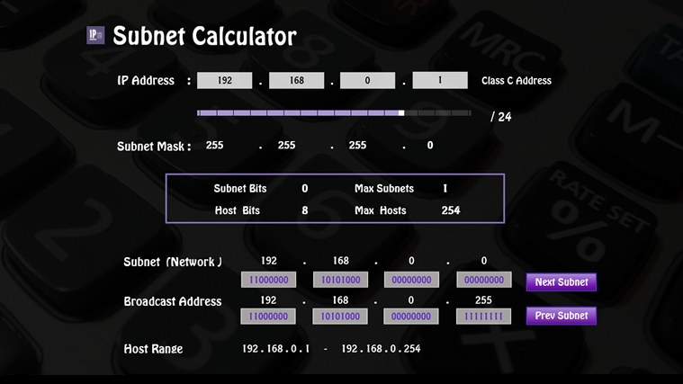 IP Subnet Calculator screen shot 0