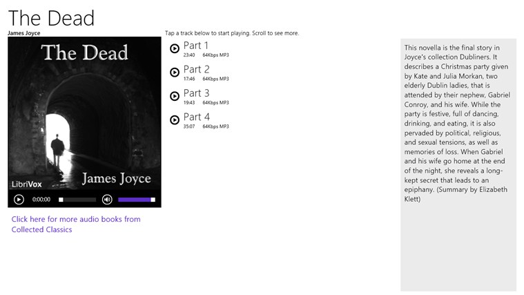 The Dead - James Joyce screen shot 0