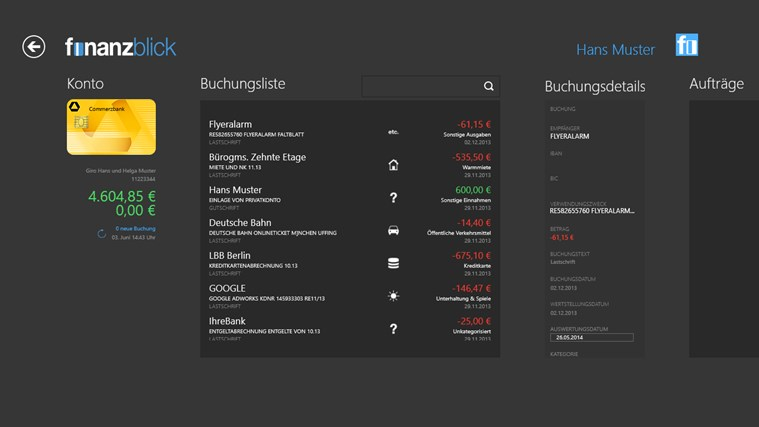 finanzblick Screenshot 2