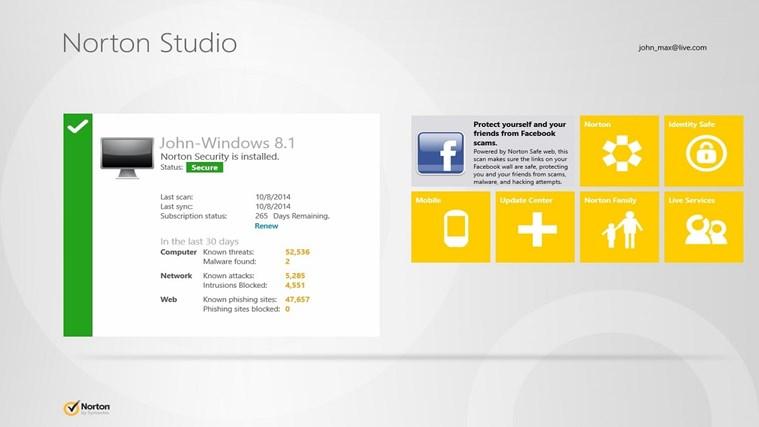 Norton Studio screen shot 0