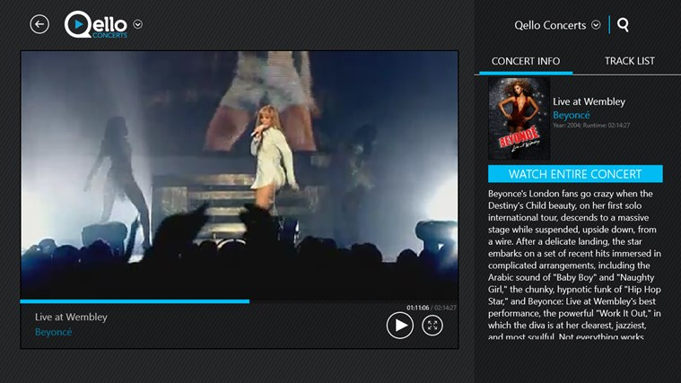 Qello Concerts screen shot 6